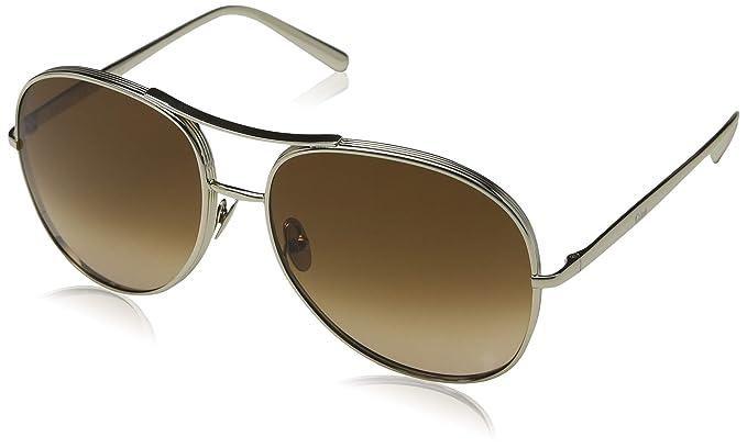 Chloé Ce127s, Gafas de sol para Mujer, Gold/Brown 61 ...