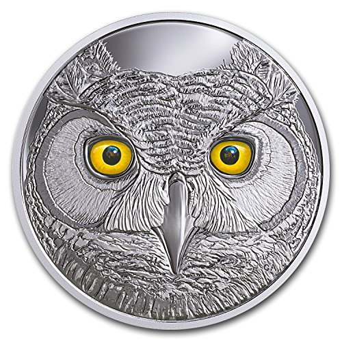 2017 CA Canada 3/4 oz Ag $15 In the Eyes of the Great Horned Owl Silver Brilliant Uncirculated