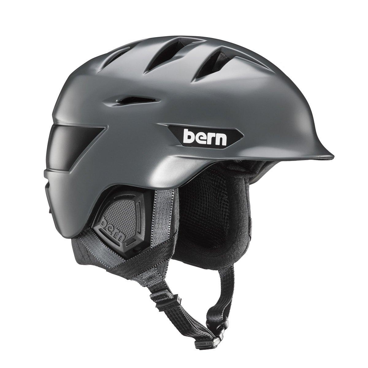 Bernヘルメット – BernヘルメットRollins – マットブラック B073SK8SH5  Satin Grey/Black Liner Medium