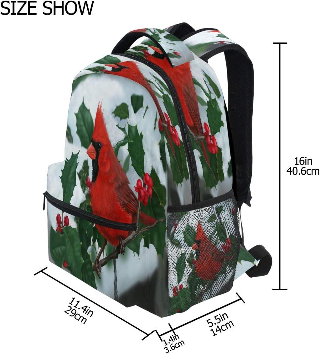 SLHFPX High School Backpack for Women Cardinal The Snow Bookbag Laptop Bag Girls Boys