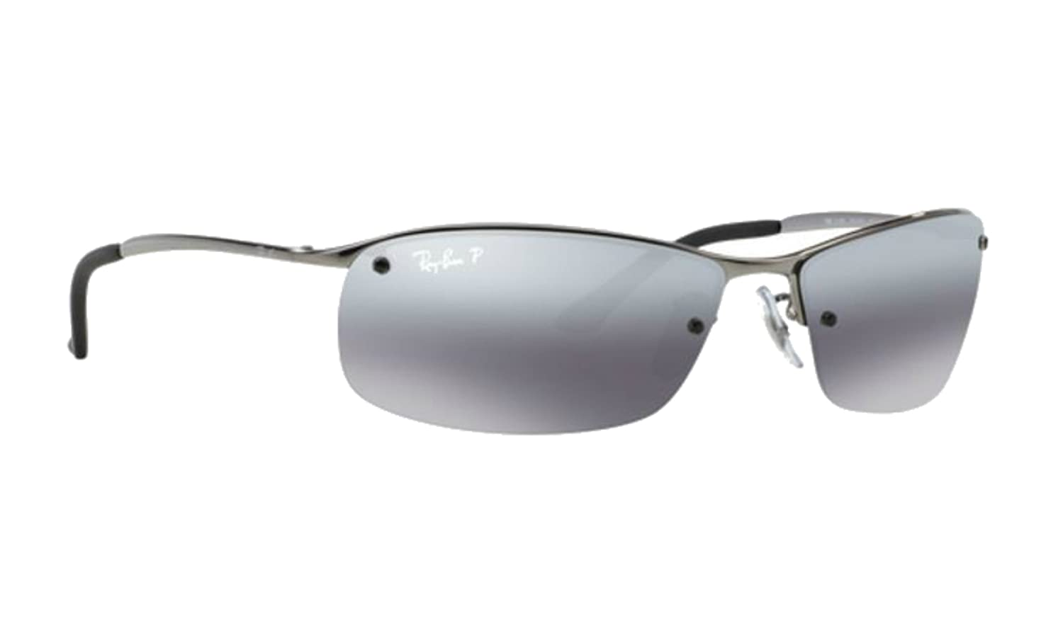 80f7e7b159 Ray-ban Silver Mirror RB 3183 004 82 63mm Polarized Sunglasses + SD Glasses  +Kit  Amazon.co.uk  Clothing