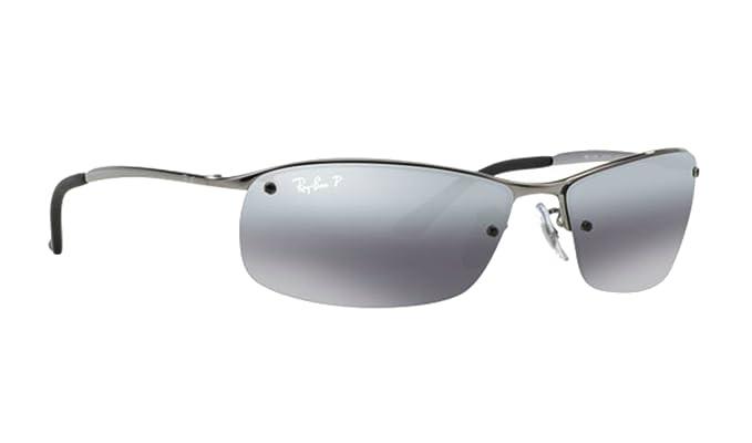6ae99789b Ray-ban Silver Mirror RB 3183 004/82 63mm Polarized Sunglasses + SD Glasses  +Kit: Amazon.co.uk: Clothing