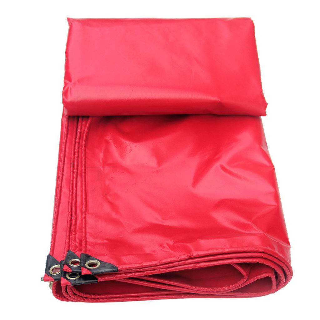 ZJ-Zeltplanen Rotes PVC-beschichtetes Tuch regendichtes Dach Tuch wasserdicht Leinwand Abdeckung Poncho (größe   4  8m)