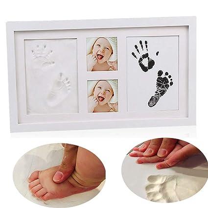 Huella del bebé y juego de bastidor de Handprint, leegoal recién ...