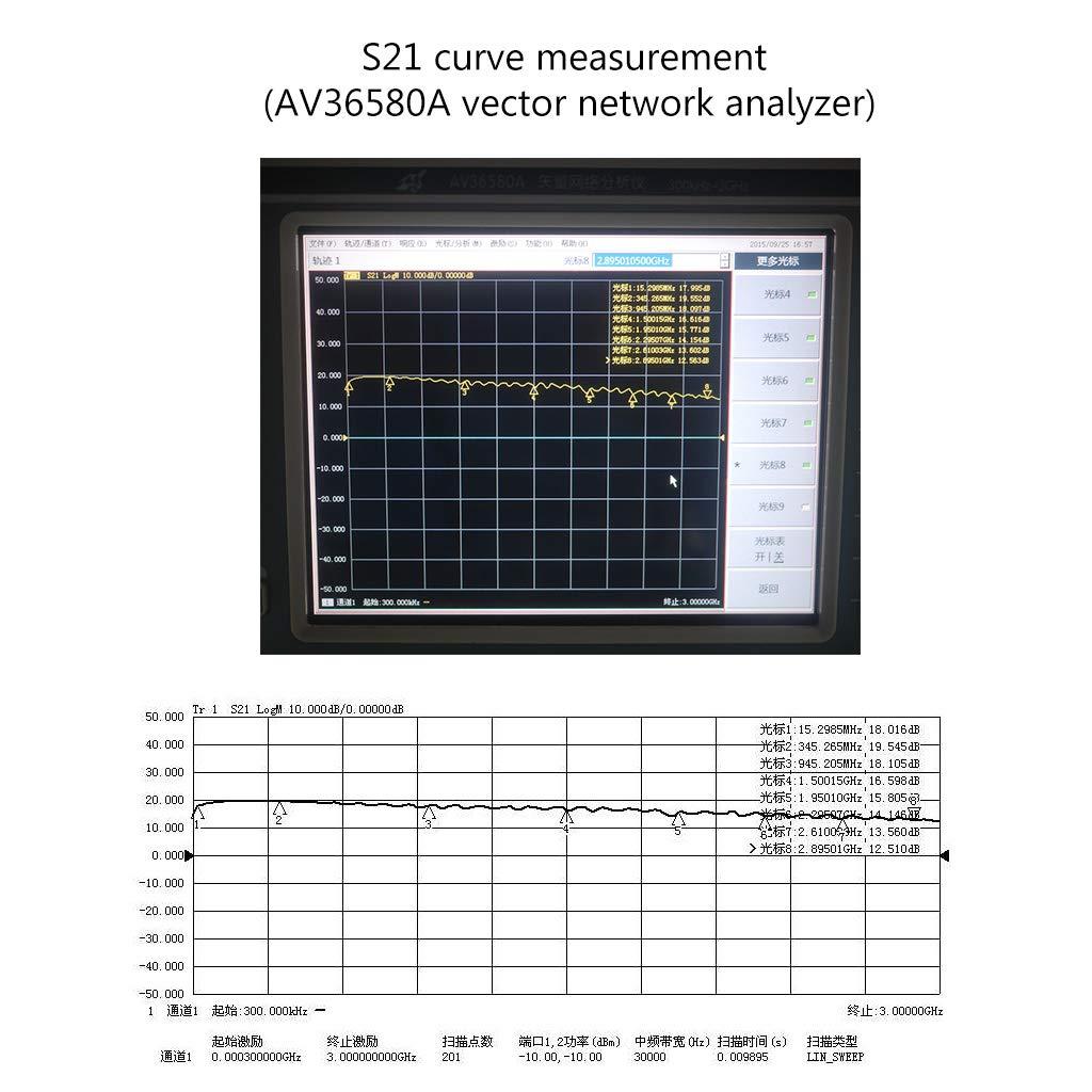 UHF HF VHF BIlinli Modulo Amplificatore a Basso Rumore a Banda Larga RF LNA RF a Banda Larga da 3 GHz a 2,4 GHz 20 Db