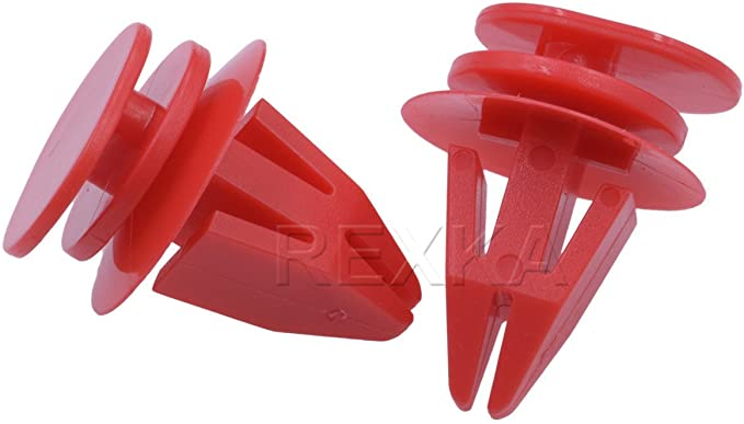 10x Clips For BMW Mini Cooper Cover Door Sill Trim Wheel Arch Clips Red Plastic