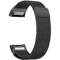 Fitbit Charge 2 Mıknatıslı Siyah Kayış Kordon MARKACASE