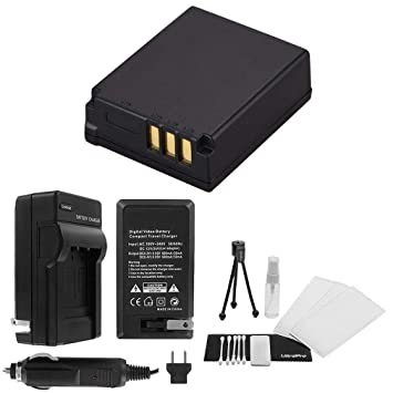 CGA-S007e High-Capacity Replacement Battery with Rapid Travel Charger for Panasonic Lumix DMC-TZ1 DMC-TZ2 DMC-TZ3 DMC-TZ4 DMC-TZ5 - UltraPro Bonus Kit