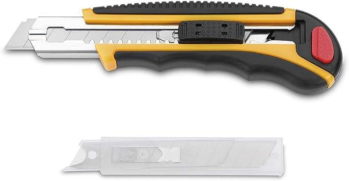 3 Claveles - Pack Cutter Alto Rendimiento Metálico con Armazon Nylon/ABS (Mod. 209 Plus): Amazon.es: Bricolaje y herramientas