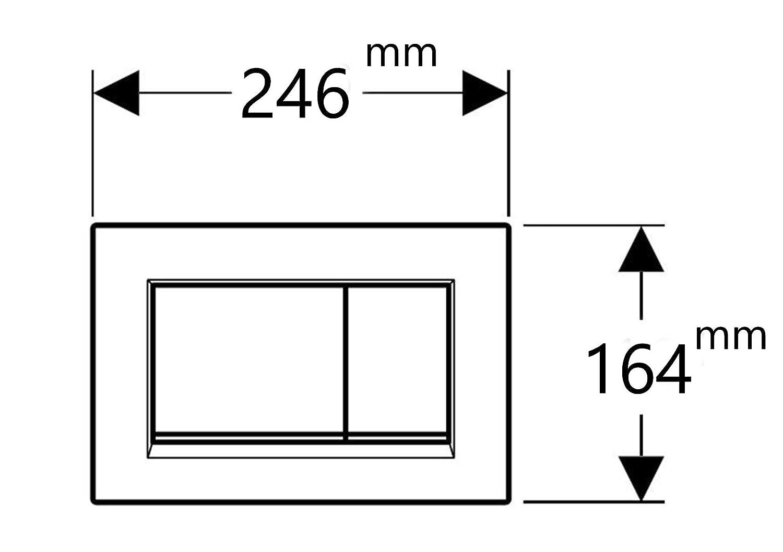 Bet/ätigungsplatte matt verchromt f/ür Geberit UP320 UP720 Sigma Sp/ülk/ästen P3
