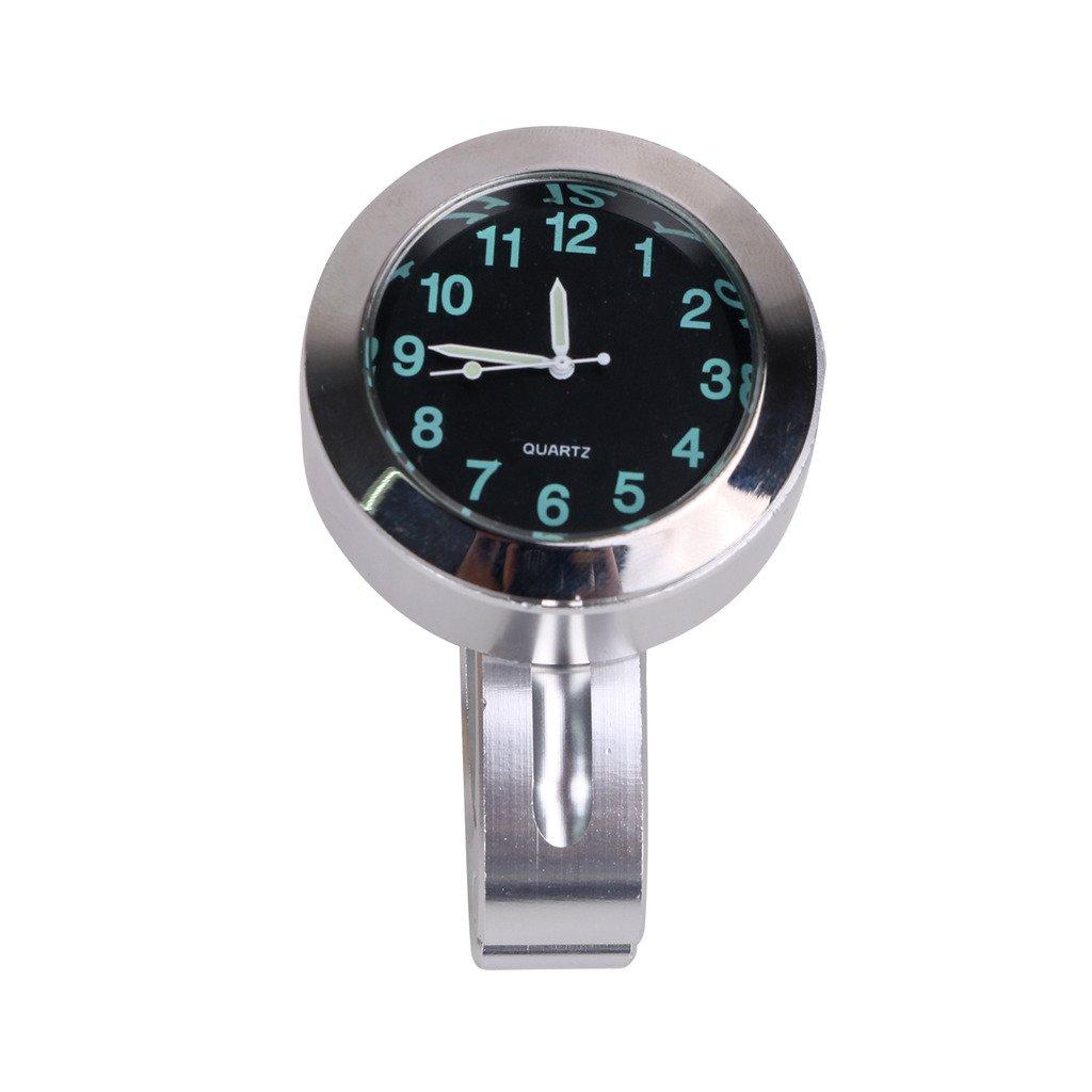 7/8' 1' Motorrad Uhr fü r Handlenker Handlebar Cruiser Bar Universal Clock Chrome Ziffernblatt AHCHUANG
