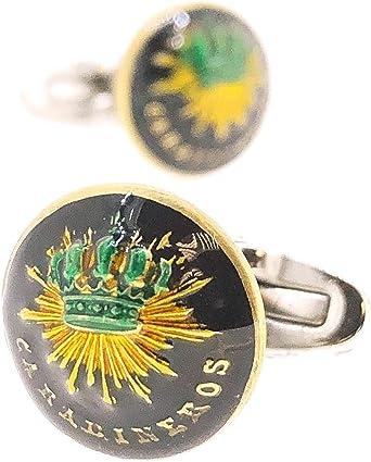 Gemelos de Camisa con Botones Originales del cuerpo de Carabineros Epoca Alfonso XIII 15 mm: Amazon.es: Ropa y accesorios