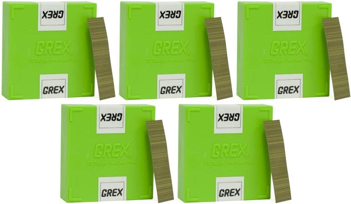 Тwо Расk GREX P6//20L 23 Gauge 3//4-Inch Length Headless Pins 10,000 per box