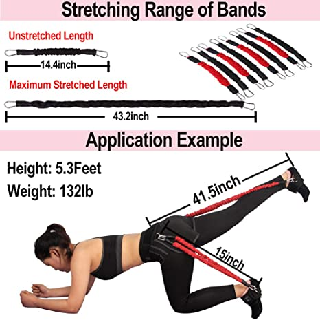 Details about  /Latex Booty Leg Resistance Band Gym Home Fitness Leg Training Belt Trainer Toner