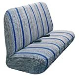 truck seat covers blue - Automotive Innovations Blue Olefin Saddle Blanket Front Bucket Universal Fit Seat Cover