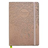 Passion Planner 2018 - Compact Size (A5) - Sunday Start (Rose Gold Blossom) - The One Place for All Your Thoughts - Appointment Calendar, Sketchbook, Reflection Journal