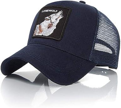 Lomire® Gorra de béisbol Animales Bordado Verano, Unisex Algodón ...