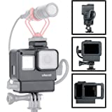 Protective GoPro Vlog Case with Cold Shoe Mount for GoPro Microphone Adapter Storage W Back Door Compatible with Gopro Hero 7 6 5 Frame Housing Accessories Perfect Vlogging ULANZI V2