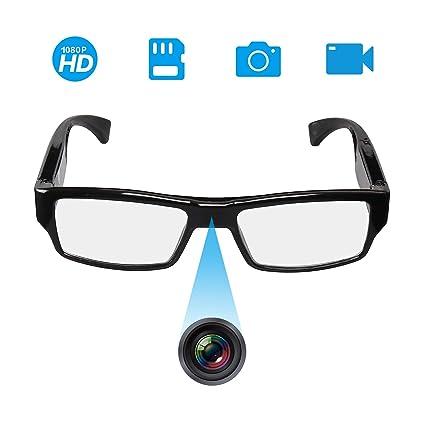 bf861f9af85b Amazon.com : [Upgraded Version] FHD Hidden Camera Eyeglasses, Super Small  Surveillance Spy Camera, Video Recorder, Snapshot, Mini Digital Camera, ...