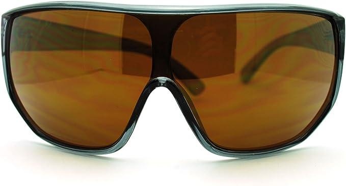 Retro Sunglasses | Vintage Glasses | New Vintage Eyeglasses Futuristic Mens Oversized Shield Mono Lens Sport Warp Sunglasses $7.95 AT vintagedancer.com