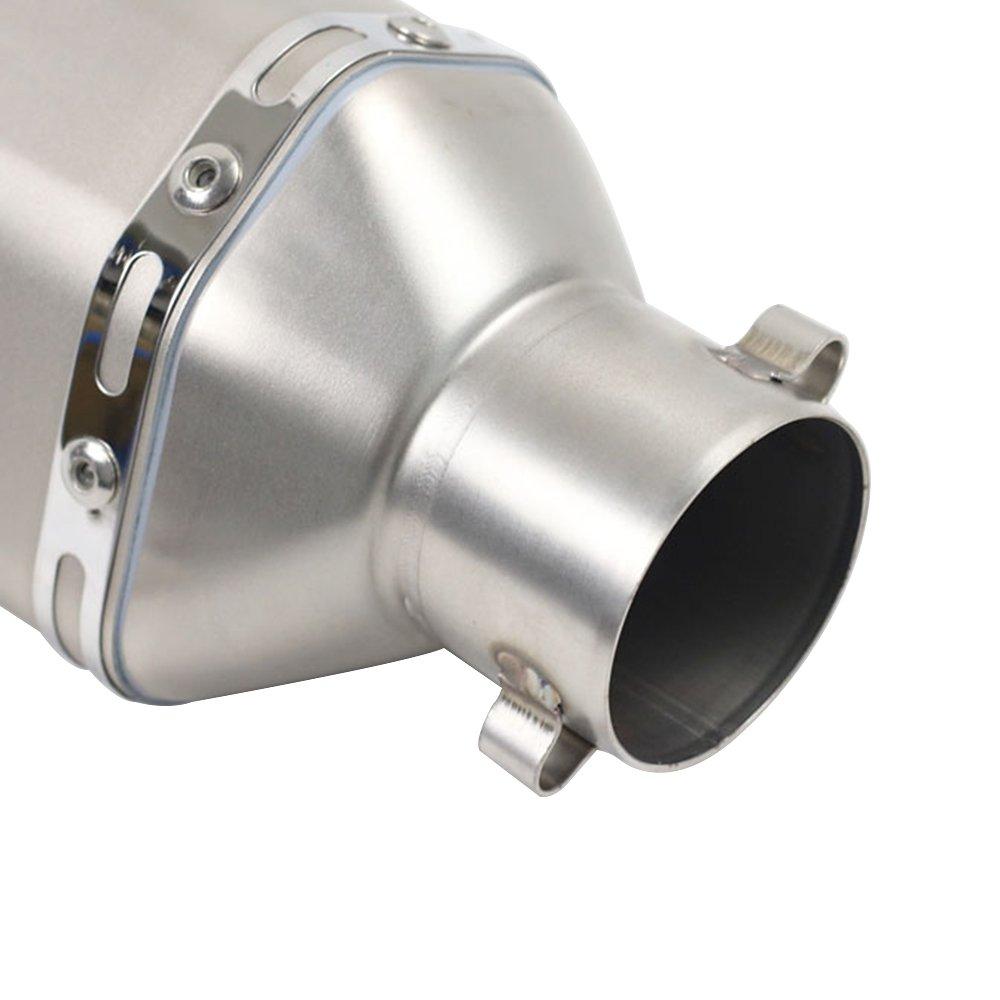 KKmoon Silenciador de Tubo de Escape 38-51mm Hexagonal Cola Universal para Motocicleta