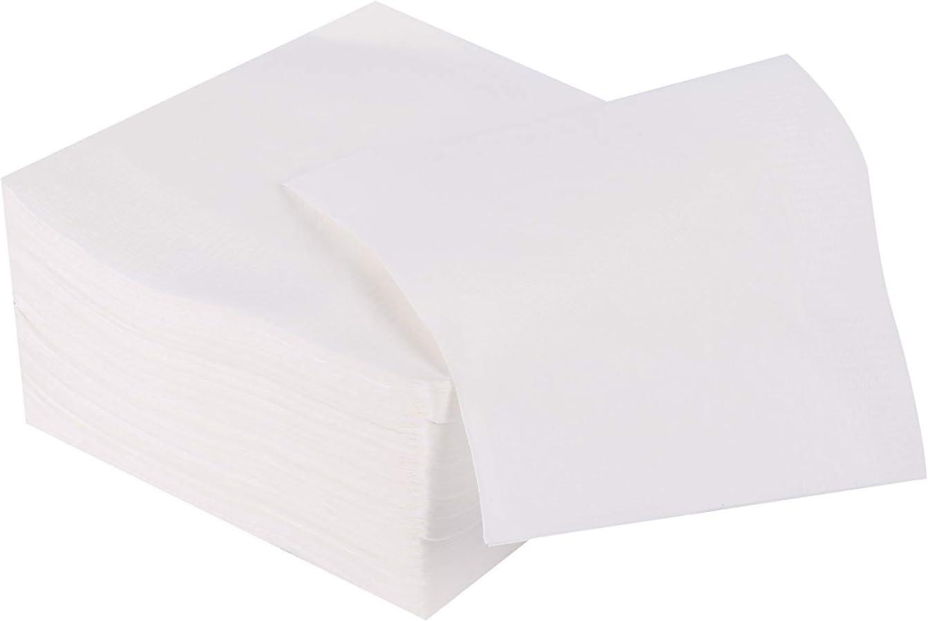 Gmark White Paper Beverage Napkins - 1000 Counts, 2 Packs of 500 Counts - Bar Events Home Function Restaurant Paper Napkins GM1118B