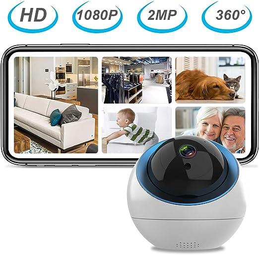 Weehey Cámara para Mascotas F7 Cámara para Perros Cámara WiFi Cámara 1080P Cámara de Visión Nocturna IR Monitor de Bebé para el Hogar para Gatos Perros: Amazon.es: Hogar