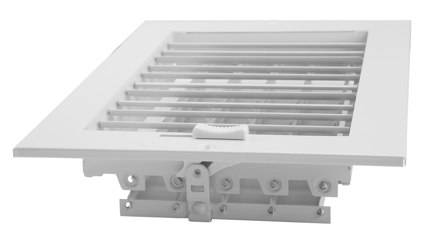 12-Inch x 6-Inch White Duct Opening Measurements Accord ABSWWHA126 Sidewall//Ceiling Register with 1-Way Adjustable Design