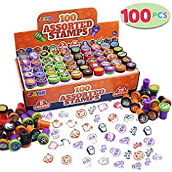 100 Pieces Halloween Assorted Stampers K...