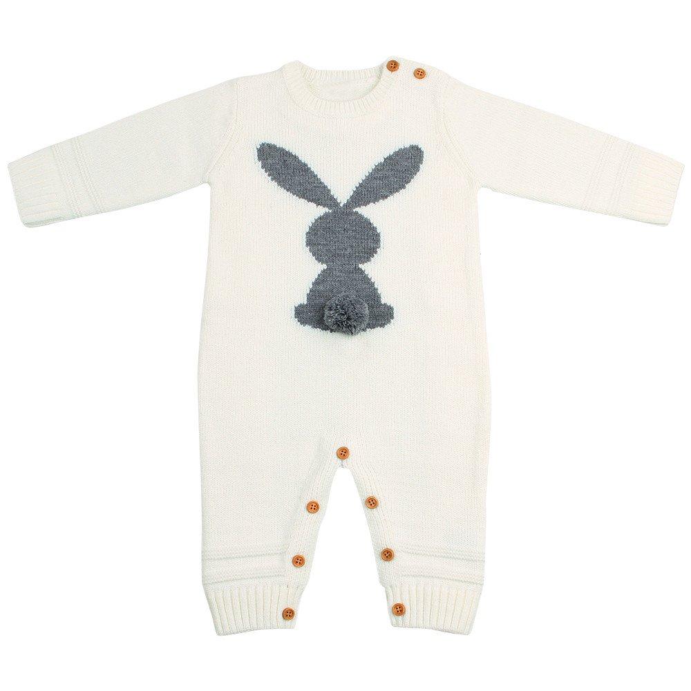 75e792d6c59d7 Amazon.com: Lookvv Infant Baby Toddler Girl Boy Rabbit Print Knit ...