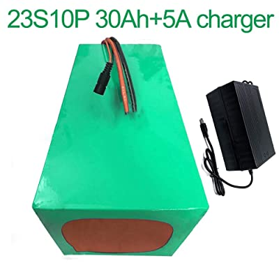 with 5A Charger 84V 30Ah 23S10P Li-ion Battery Electric Two Three Wheeled Motorcycle Bicycle ebike 280x190140mm: Toys & Games