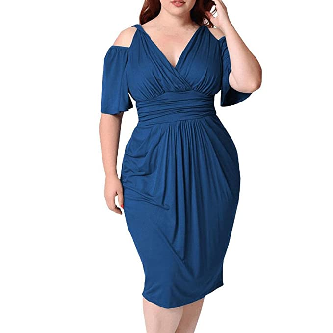 Dresses Plus Size,2018 Sexy V-Neck Dress Clubwear Dresses Cocktail Casual Dress for Party Work Wedding