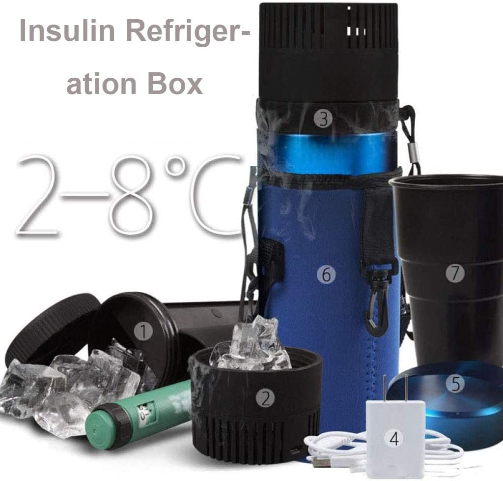 WZYJ Taza de enfriamiento rápido, Mini USB Ligero Medicina Temperatura Enfriador de insulina Caja - Medicamentos, Bebidas, refrigeración de Cerveza