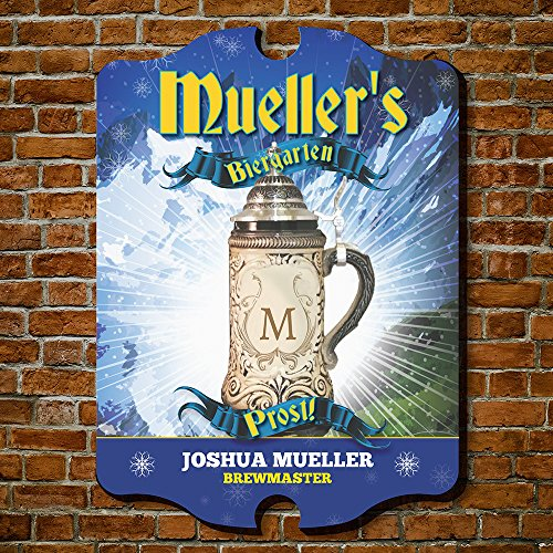 HomeWetBar Brewmaster Biergarten Personalized Beer Sign (Custom