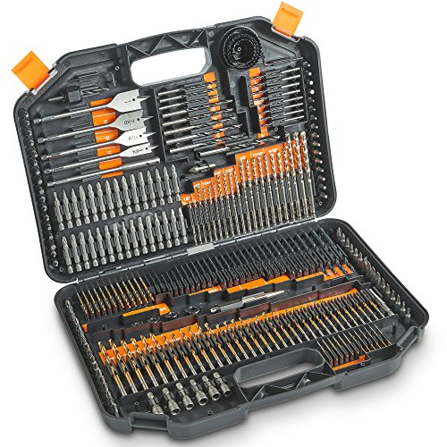 VonHaus 246-Piece Drill and Drive Bit Set with Titanium Coated HSS Bits and Storage Case for Drilling Metal, Masonry, Wood and Plastics by VonHaus