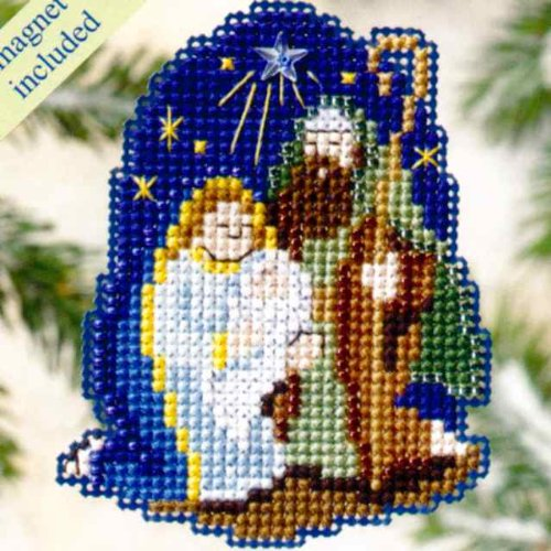 (Nativity Beaded Counted Cross Stitch Ornament Kit Mill Hill 2009 Winter Holiday MH18-9305)