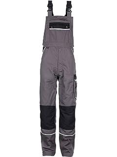 TMG/® Petos de Trabajo para Hombre Artesanos XS-7XL Multibolsillos y Reflectores Pantalones de Trabajo Resistentes con Peto Electricistas Mec/ánicos 110 Gris