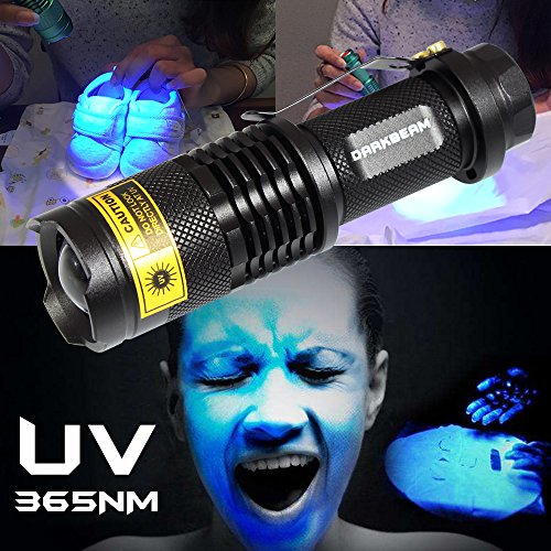 uv Flashlight Black Light 365nm LED Lamp Blacklight Pet Urine Detector For Dog Cat Dry Stains Bed Bug Ultraviolet flashlights lights DARKBEAM SK68(1 - Uv Check Code