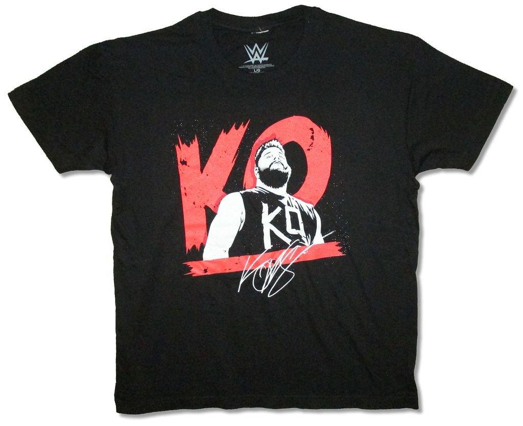 WWE Wrestling KO Signature Image Kevin Owens Black T Shirt Soft (L)