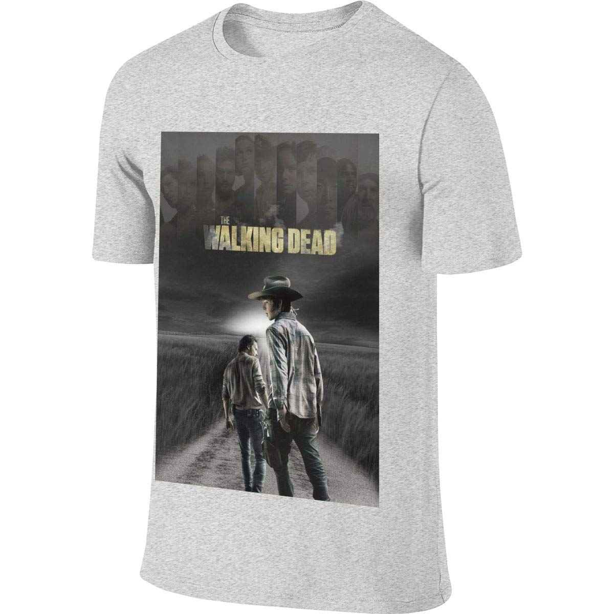 NICOTE Mens Customized Humor Top The Walking Dead Tshirt