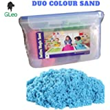 GLeo Active/Magic/kinetic Never Dries Sand Clay, 2 Colours with 6 Moulds, 1 KG (Multicolour) in Air Tight Container.. (Note : Beware of fake and duplicate products. Amazesale Enterprises do not take responsibility of any fake product from other sellers.)