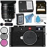 Leica M10 Digital Rangefinder Camera (Black) Summilux-M 24mm f/1.4 ASPH. Lens + 72mm 3 Piece Filter Kit + 64GB SDXC Card + Card Reader + Deluxe Cleaning Kit + MicroFiber Cloth Bundle