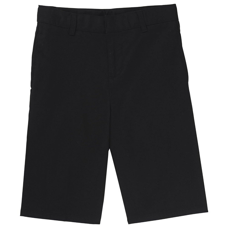 French Toast Boys' Basic Flat-Front Short with Adjustable Waist, Black, 16