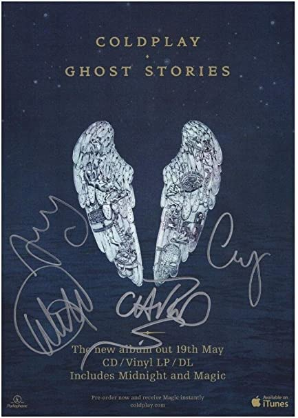 Coldplay Signed Autographed 21cm x 29.7cm A4 Poster Photo