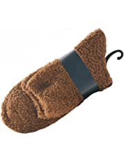 Tinksky Men Coral Fleece Ankle Socks Warm Thick Floor Socks Fluffy Sleep Bed Socks 1 Pair (Coffee)