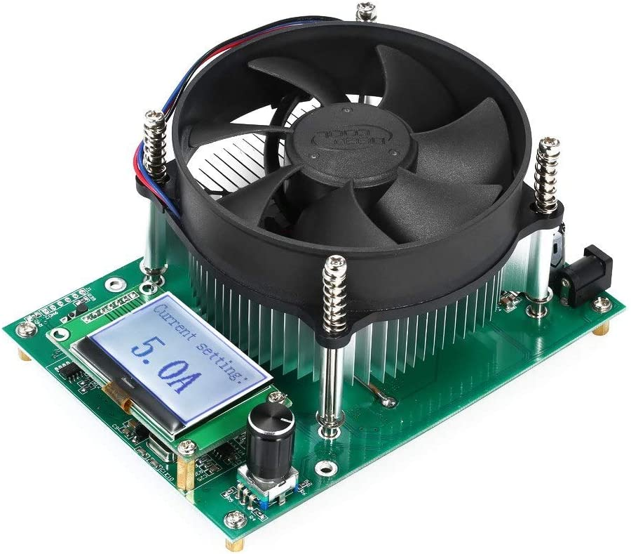 Litio DIY 150W Corriente Constante Carga electrónica 60V 10A del probador de la batería Capacidad de Descarga Tester Medidor Módulo 12V 24V 48V al Plomo con Pantalla OLED Herramientas y Bricolaje