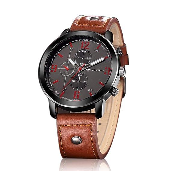 Hannah Martin Hombre Reloj de Manera Informal Tresmirilla Diseño de Reloj de Cuarzo Reloj de Pulsera HM-2012: Amazon.es: Relojes