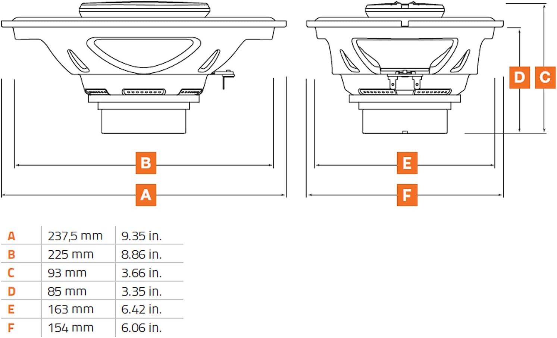 Hertz Sx 690 Neo Set Coax 3way 6 X 9 Koaxialsystem 1paar Aus Der Spl Show Serie 260 Watt Audio Hifi