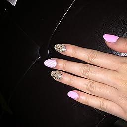 Amazon.com  Kiss ImPRESS (NEXT WAVE) Oval Short Press-On Manicure Nails  Beauty