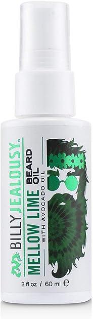 Billy Jealousy Mellow Lime Beard Oil, Moisturizing Strengthening & Softening Everyday Beard & Stache Oil, 2 Fl Oz